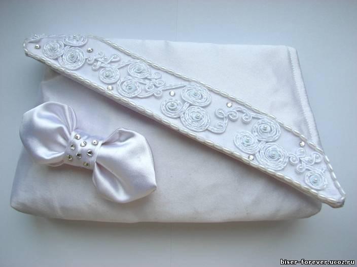 Клатч свадебный белый.